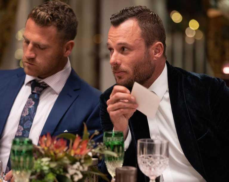 James Boggia at the Bachelorette cocktail party.