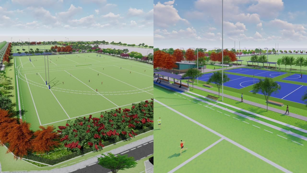 Construction has commenced on Aura's 7.5ha Nirimba District Sports Facility. Picture: Supplied