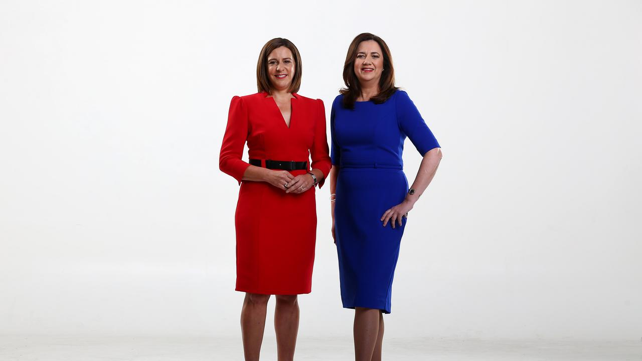 LNP leader Deb Frecklington and Premier Annastacia Palaszczuk will show voters why they should vote for them. Picture: Adam Head