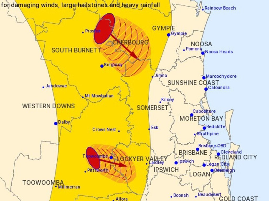 The Bureau of Meteorology are keeping a close eye on a severe thunderstorm headed for the Sunshine Coast.