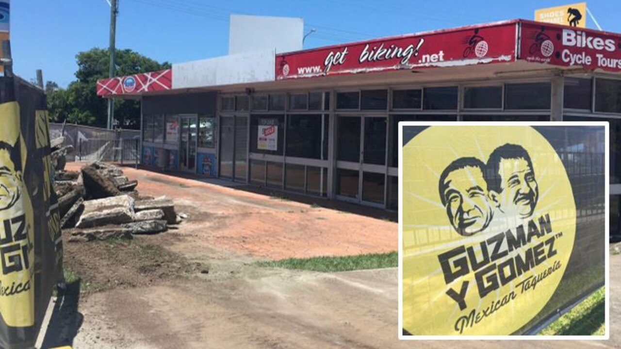 Guzman Y Gomez is tipped to be going in the site of the old bike shop and Cold Rock in Caloundra. Picture: Supplied