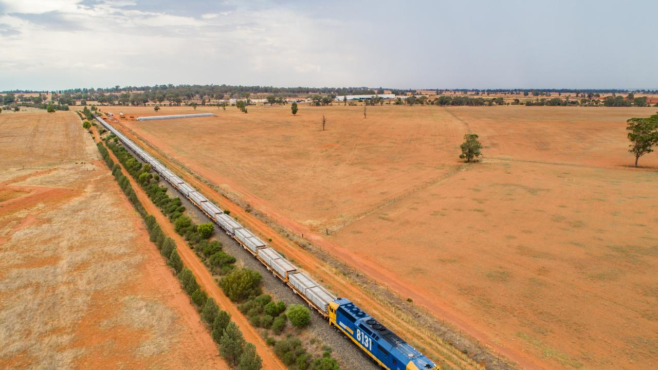 The latest details for the Inland Rail, Gowrie to Calvert (supplied image).