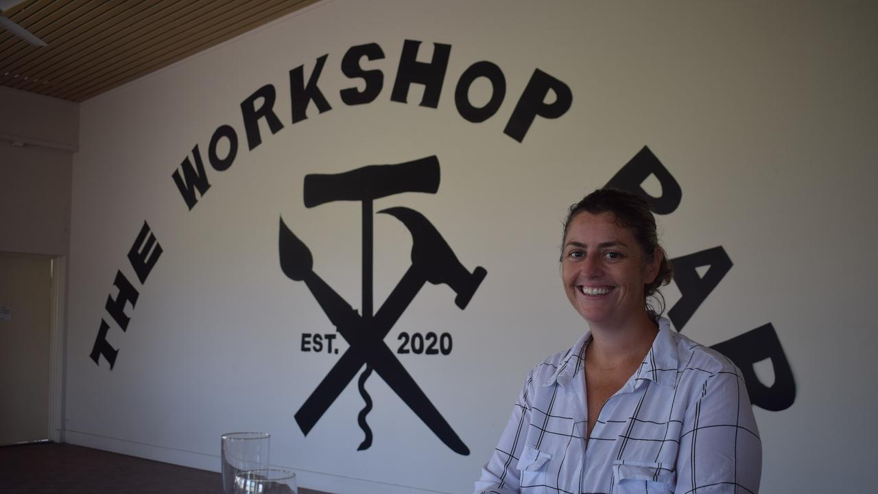 Gayle Douglass was inspired to start The Workshop Bar after moving to Gladstone four months ago and noticing an absence of activities available for the community.