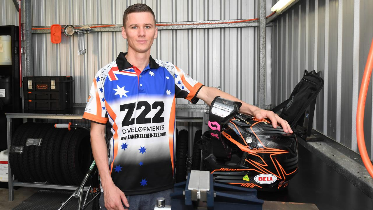 Rockhampton's Zane Keleher has returned from the United Kingdom after the 2020 speedway season was cancelled due to COVID-19.