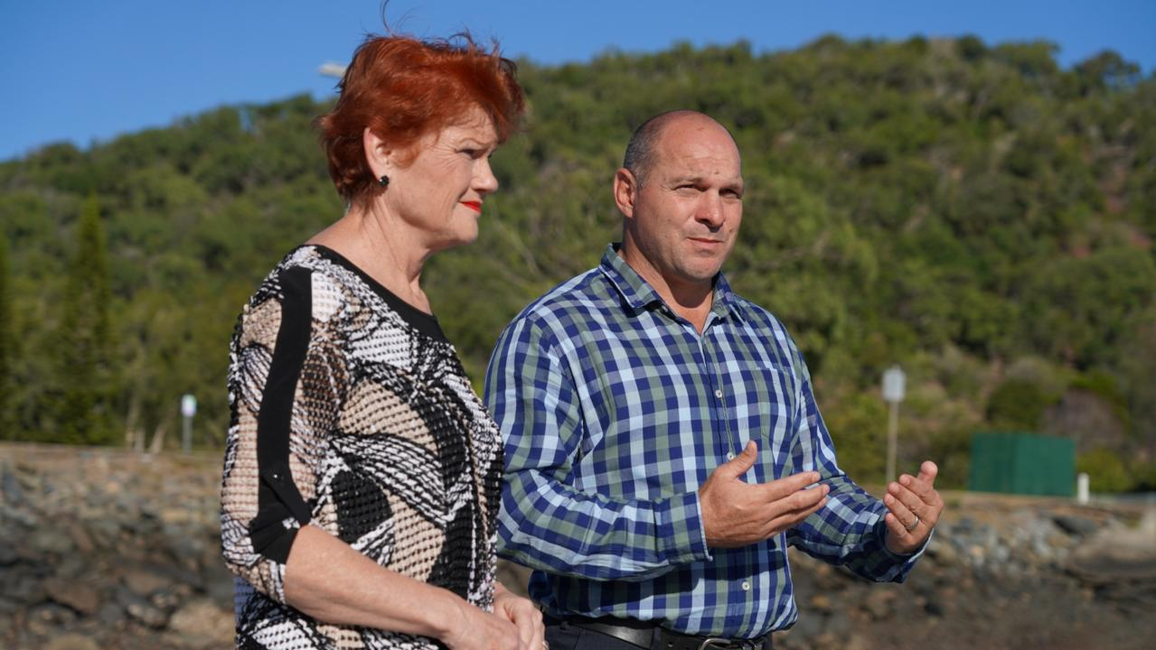 Pauline Hanson and One Nation Keppel candidate Wade Rothery.