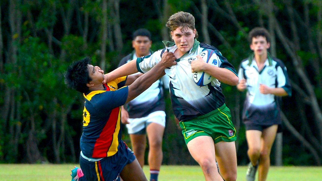 Mackay Schools Rugby Cup Round 1. Holy Spirit College versus Calen State High School. Photo: Callum Dick