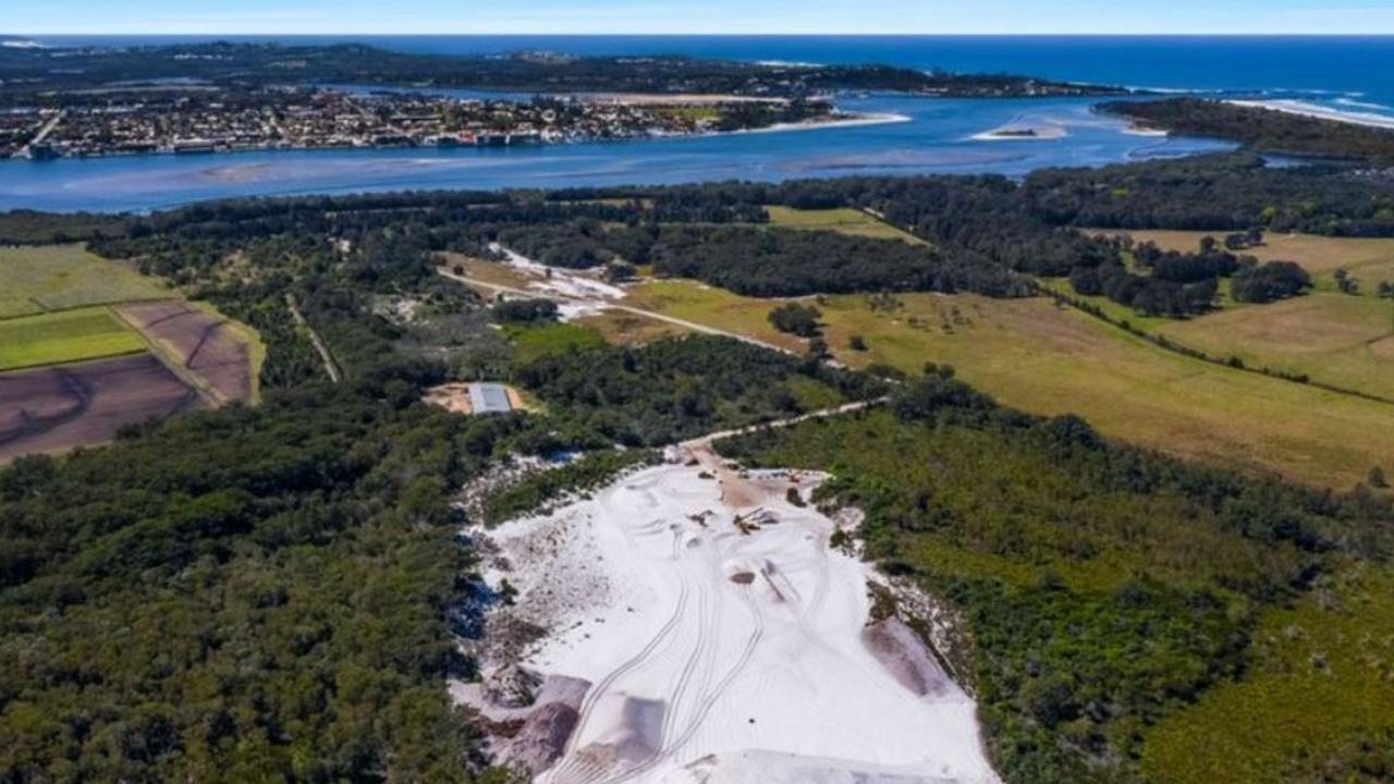 The South Ballina sand quarry is up for sale.