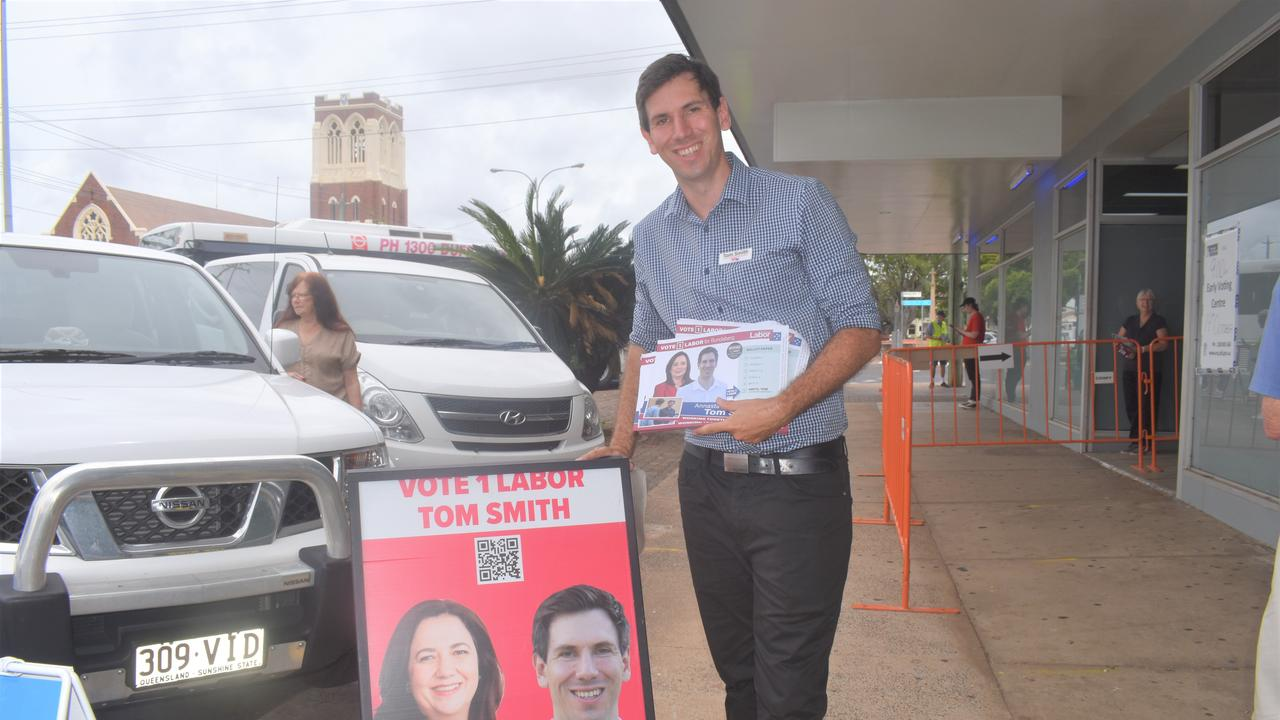 Tom Smith outside the polling booth.