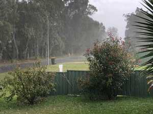 Hail hits Clarence Valley