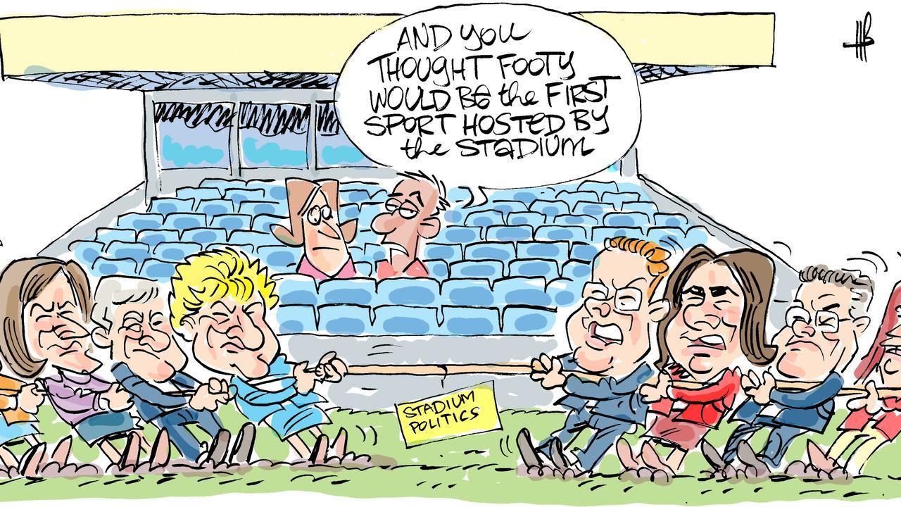 Harry's view on stadium funding.