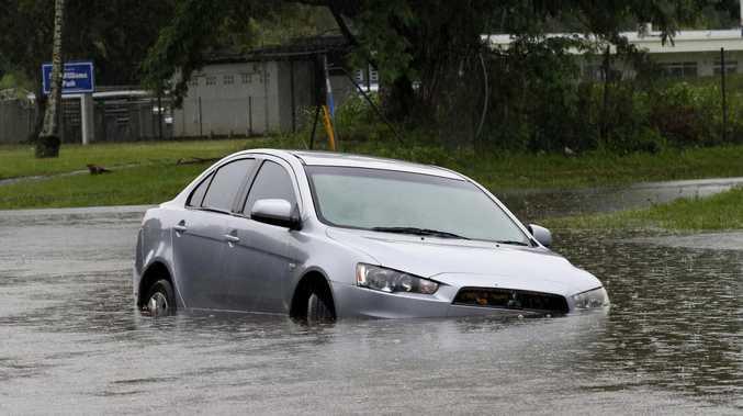 Man hospitalised after crash into Burnett floodwaters
