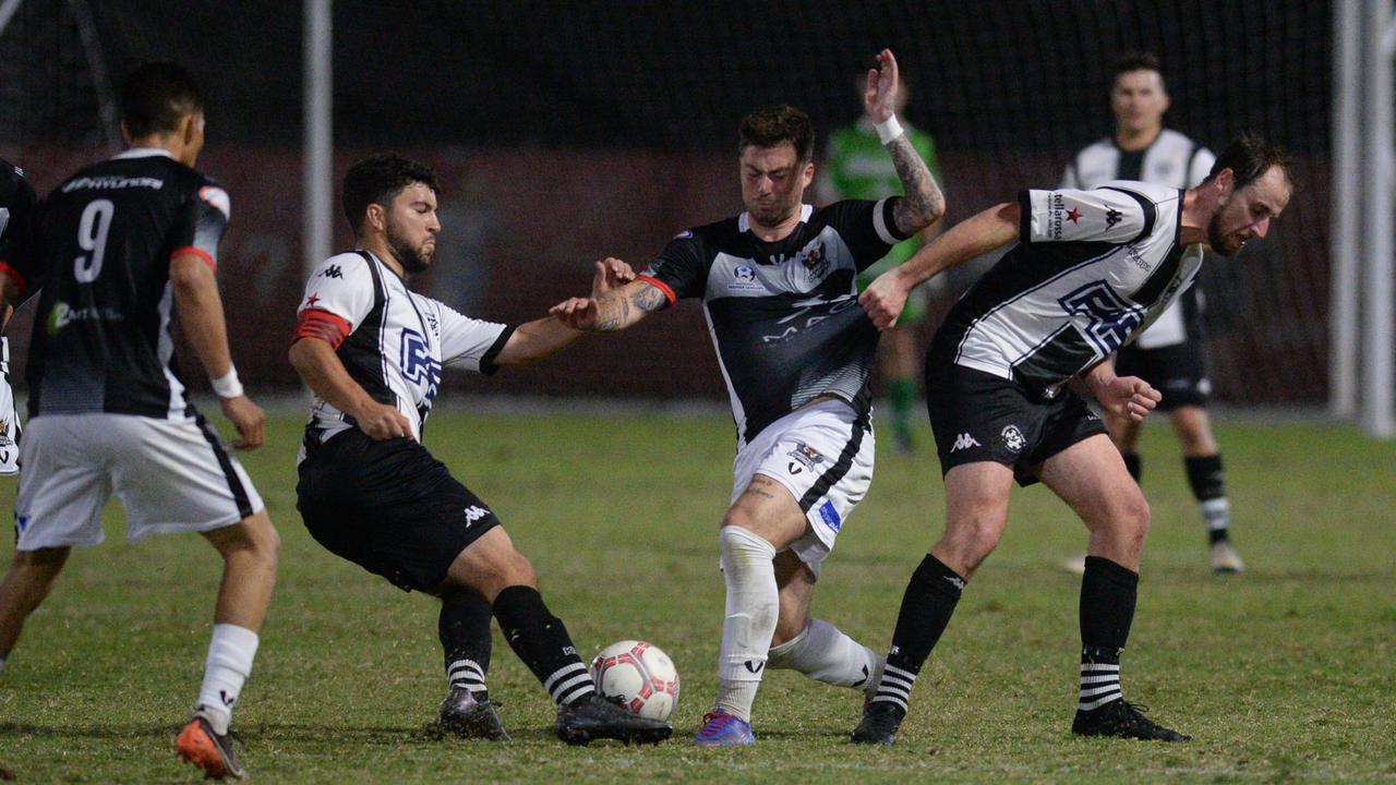 Magpies FC and Magpies Crusaders will meet in the Mackay Premier League Men's grand final on Saturday night.