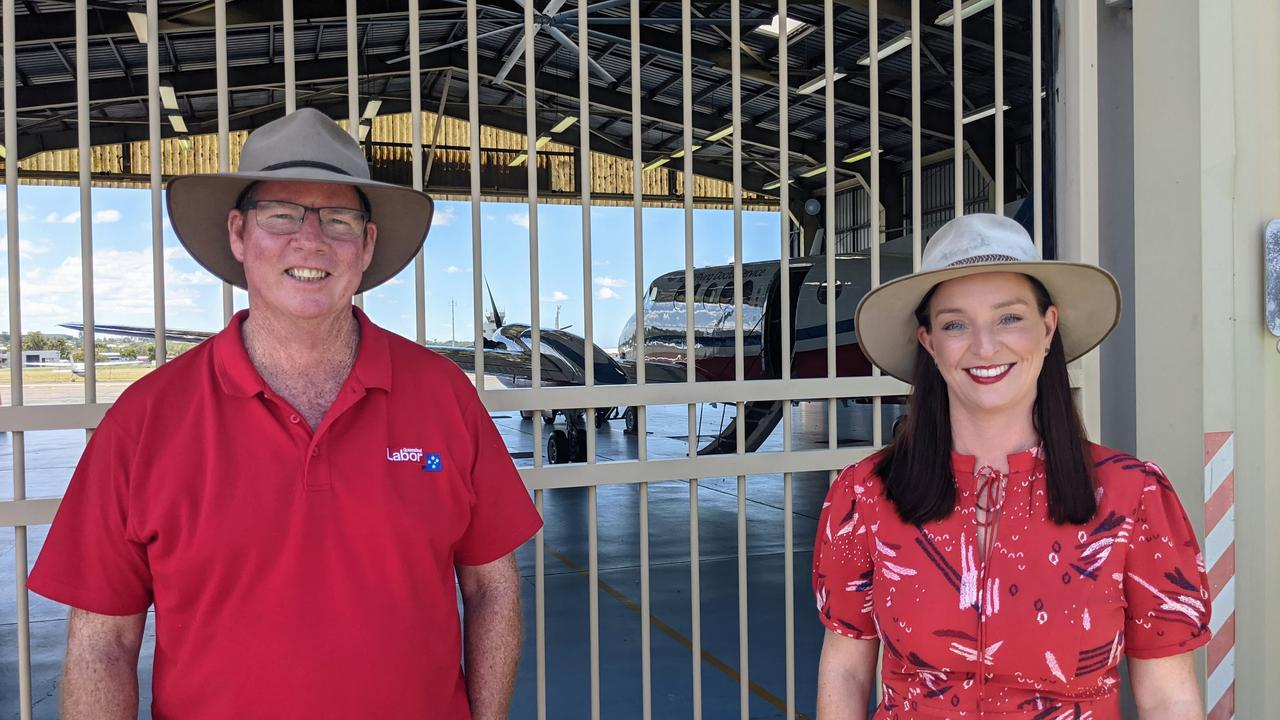 ELECTION PROMISE: Labor candidates for Keppel Brittany Lauga and Rockhampton Barry O'Rourke said a re-elected Labor Government would sign up to a 10-year partnership with the Royal Flying Doctor Service to continue their lifesaving work.