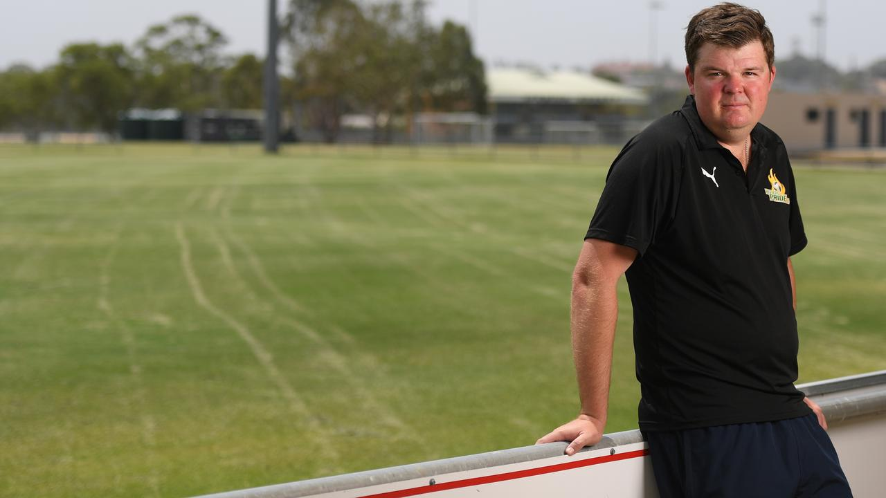 Western Pride head coach Andrew Catton is planning an indefinite break after completing his 2020 QPL commitments. Picture: Rob Williams