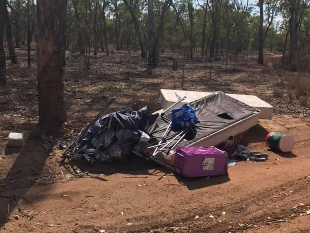 Moranbah community outraged over illegally dumped rubbish at the outskirts of town.