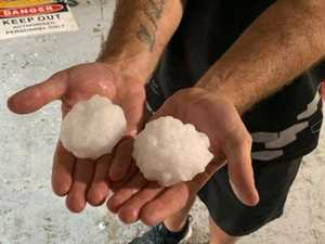Warning as huge hailstones smash towns