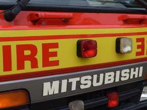Crews battle blaze inside shipping container