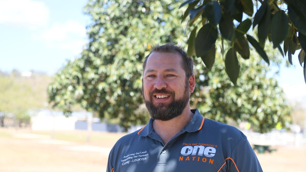 Pauline Hanson One Nation candidate for Lockyer, Corey West.