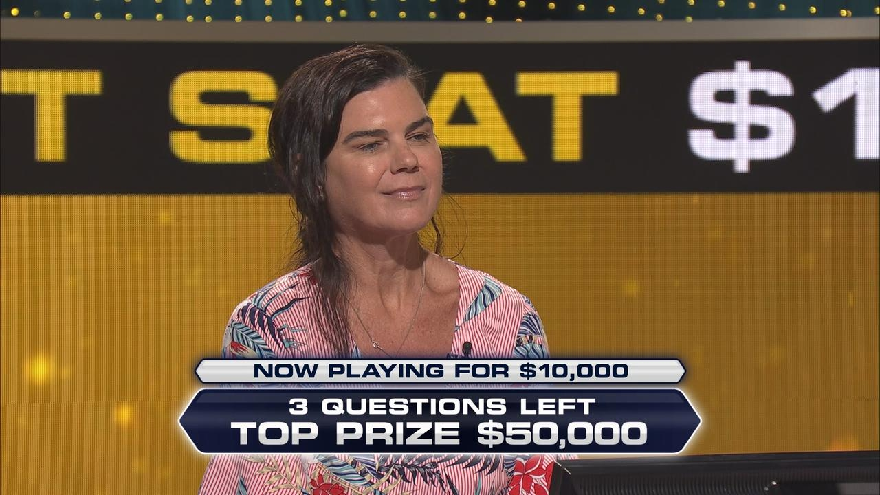 Sunshine Coast's Melissa Finlay shares her interesting meeting with a former US president on Millionaire Hot Seat.