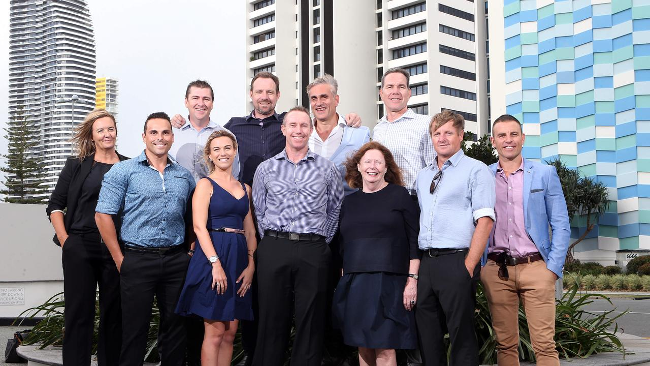 Jake Ryan when he worked at the Gold Coast Bulletin. Photo of (L-R) Colette Gallagher, Aaron Jackway, Troy Dowse, Jessica Millman, Ben Hodge, Andrew Turner, Tom Panos, Sylvia Bradshaw, Steve Carroll, Jason Blewitt, Jake Ryan. Pic by Richard Gosling