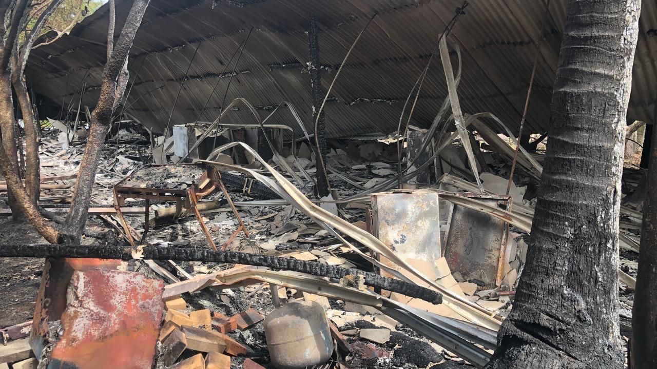The recent fire damage on GKI.