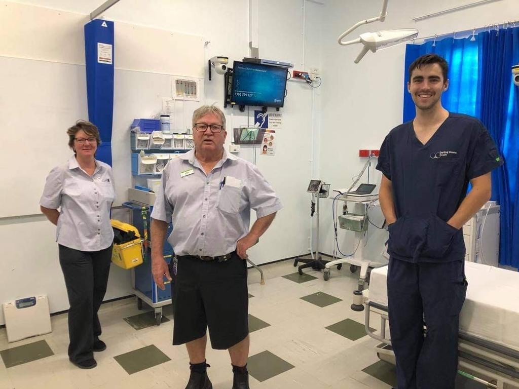 Mr Stapleton is a registered nurse, currently working at Murgon Hospital. Photo: Facebook/Mark Stapleton.