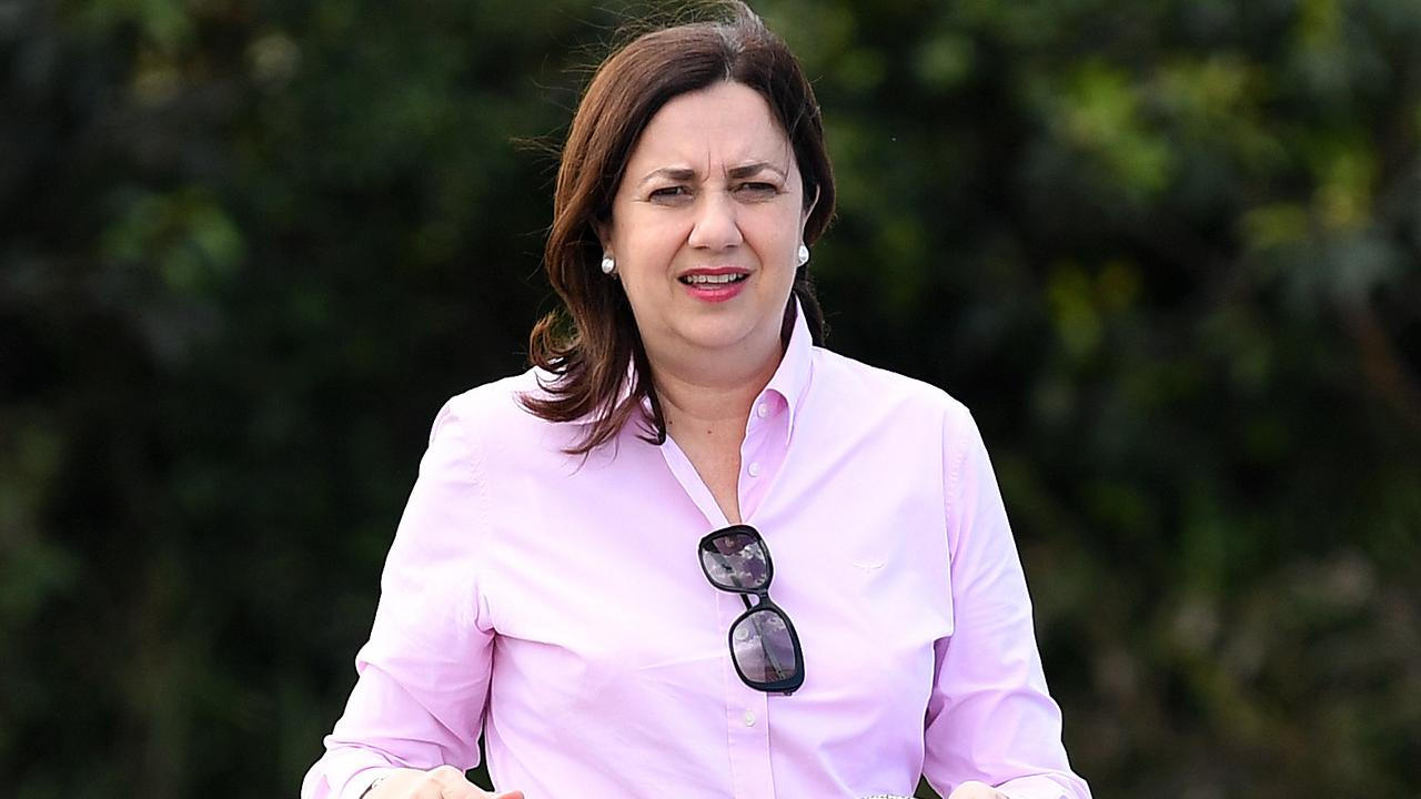 Premier Annastacia Palaszczuk campaigns in Coomera on the Gold Coast ahead of the state election on October 31. Picture: NCA NewsWire/Dan Peled