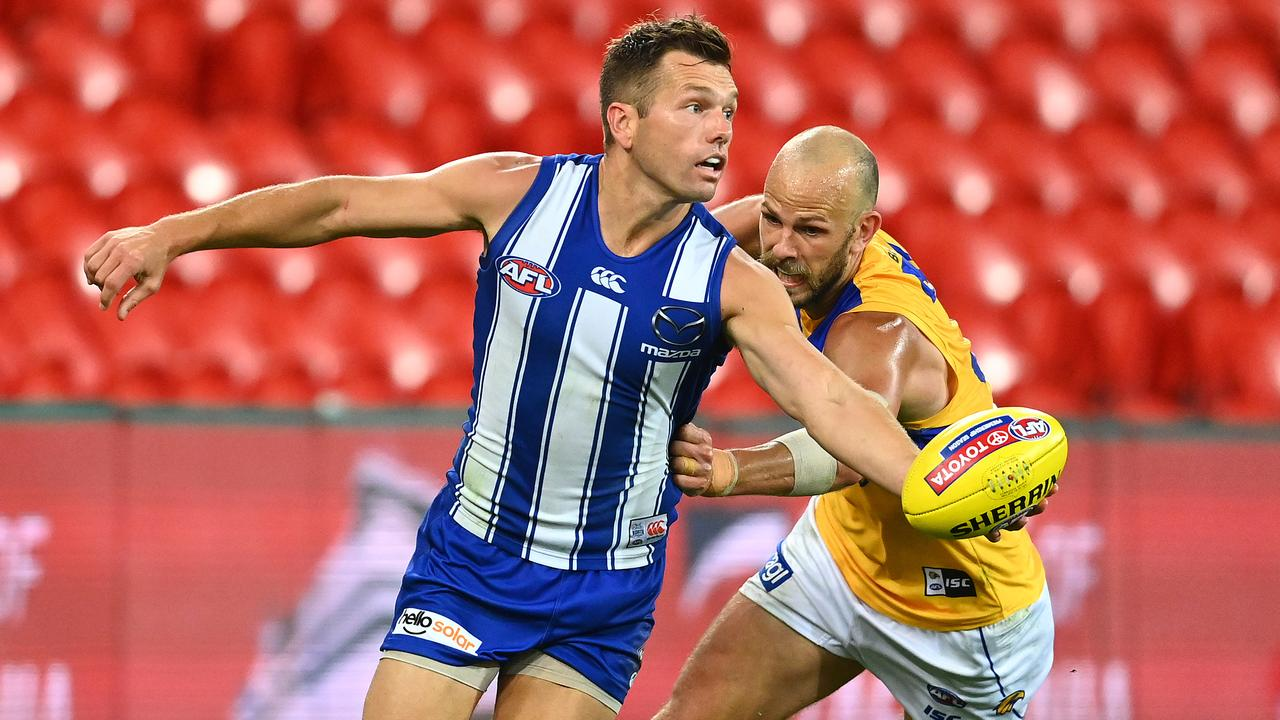 Shaun Higgins looms as the best replacement for Gary Ablett for at least one season. Picture: Quinn Rooney/Getty Images