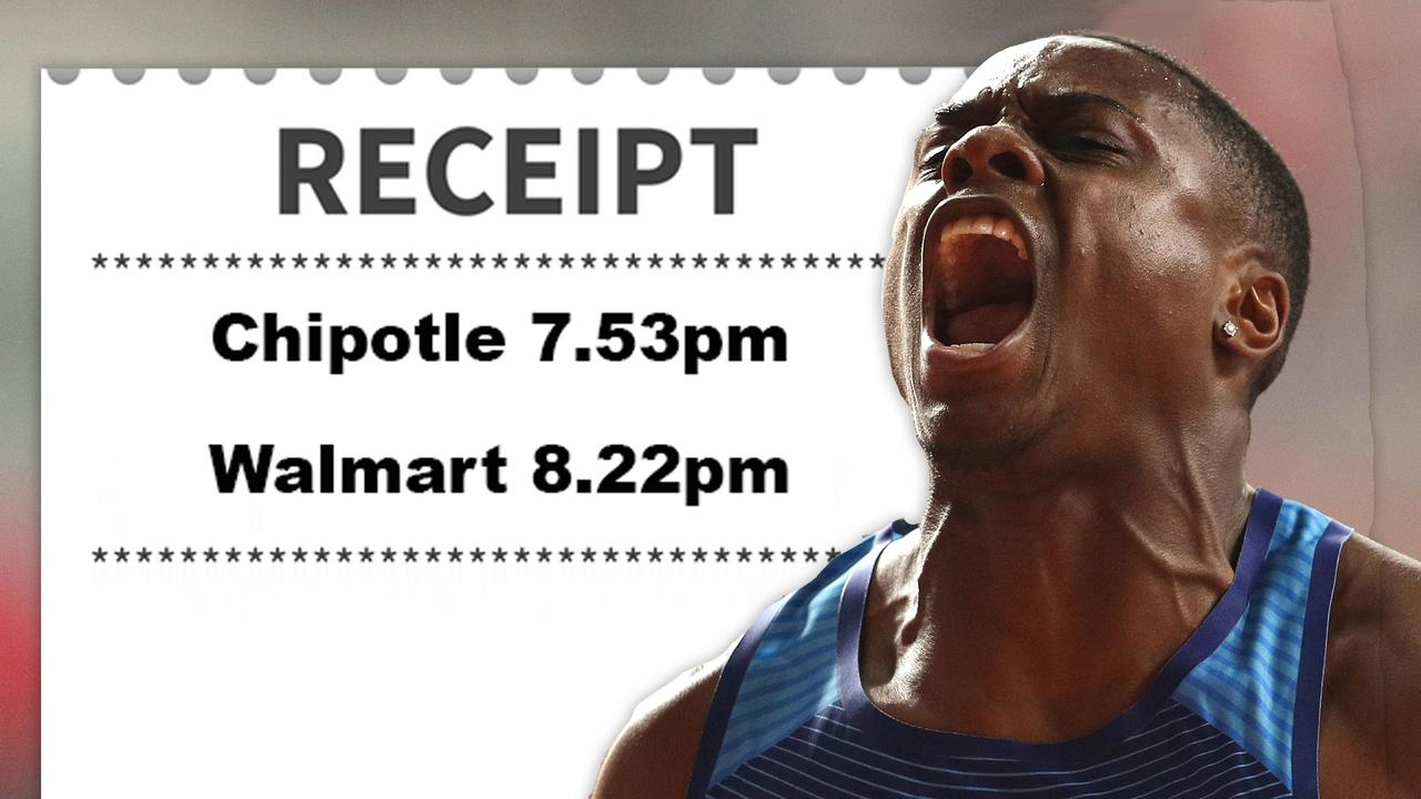 World's fastest man Christian Coleman exposed by receipts before Tokyo Olympics ban