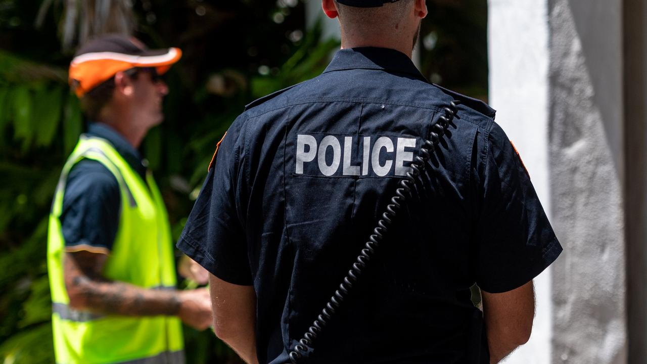 Cops have fined a woman in mandatory quarantine after she allegedly tried to climb a fence.