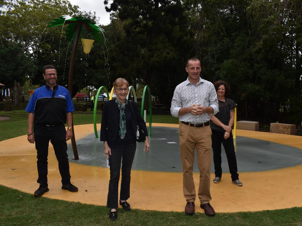 Lismore MP Janelle Saffin joined Lismore City Council mayor Isaac Smith and councillors Elly Bird and Neil Marks to open Heritage Park.