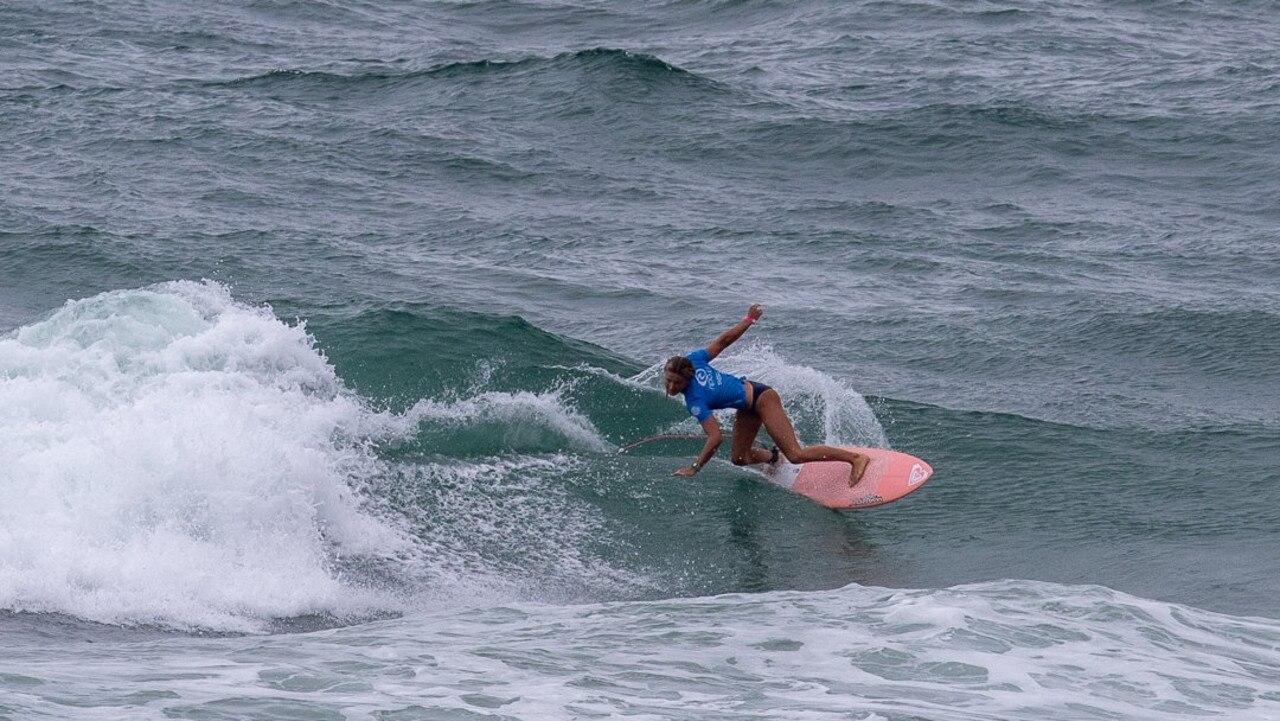 Sunshine Coast surfer Ellia Smith rides a wave.