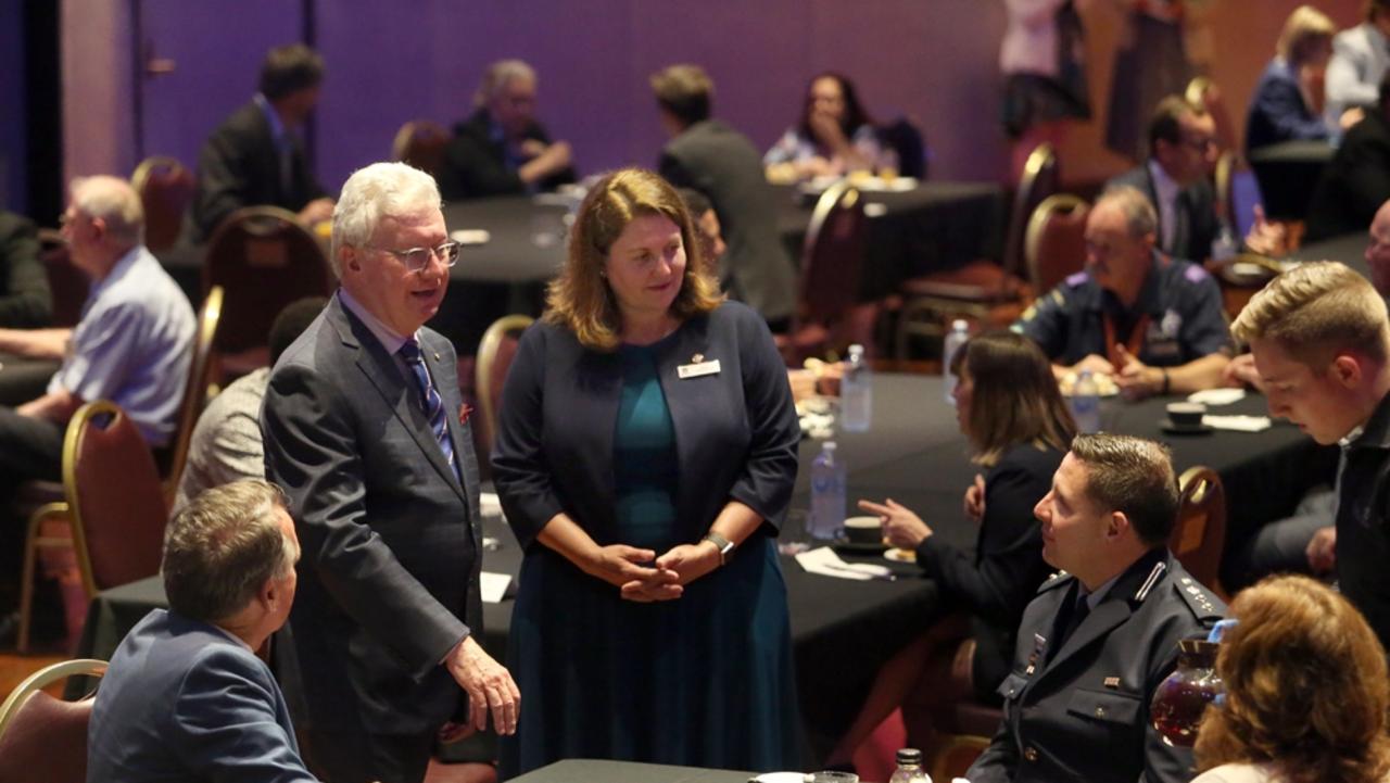 Governor of Queensland Paul de Jersey (centre) meets with Mayor Teresa Harding and Ipswich community leaders.