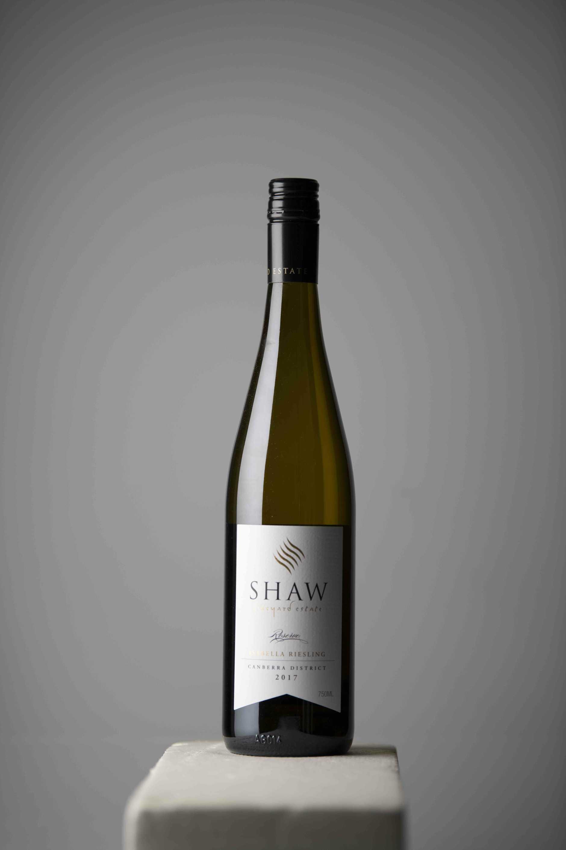 Shaw Vineyard Estate Canberra District Reserve Isabella Riesling 2017