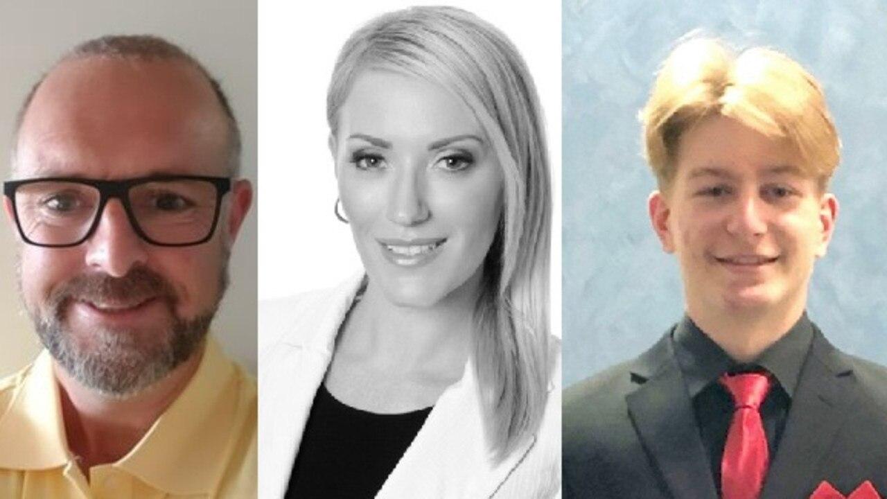 UAP candidates Paul Crangle, Nicole Smeltz, and Thomas Turner.