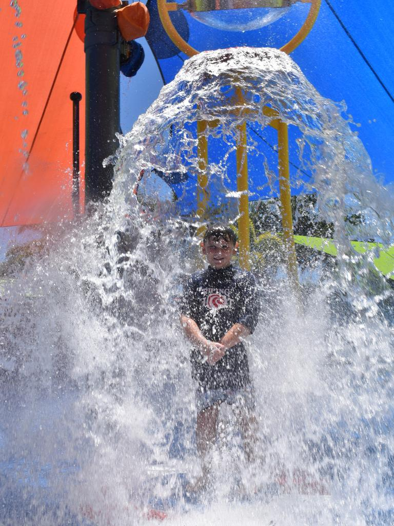 Lucas Everett, 8, at the opening of the new interactive play area at the Bluewater Lagoon, on Friday October 30. Picture: Zizi Averill