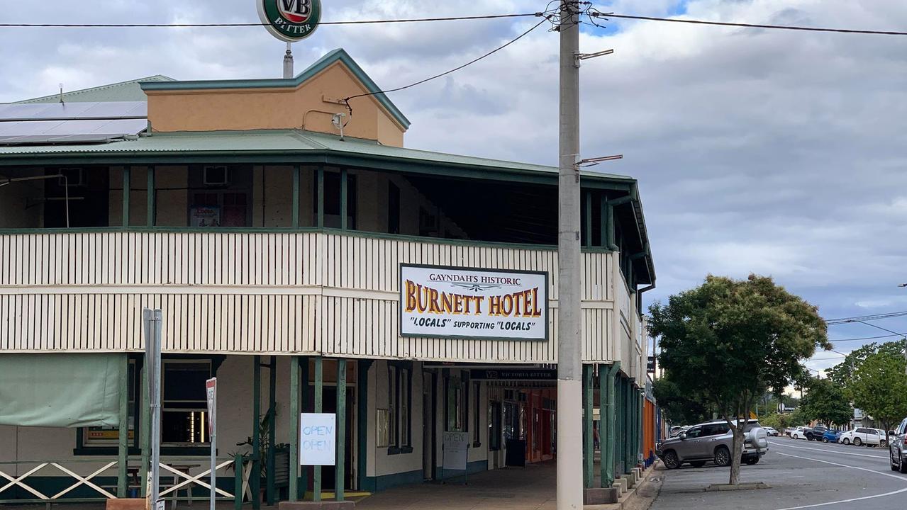 COVID BREACH: Burnett Hotel in Gayndah was shut down for three days on October 10 for breaching several COVID-19 regulations.