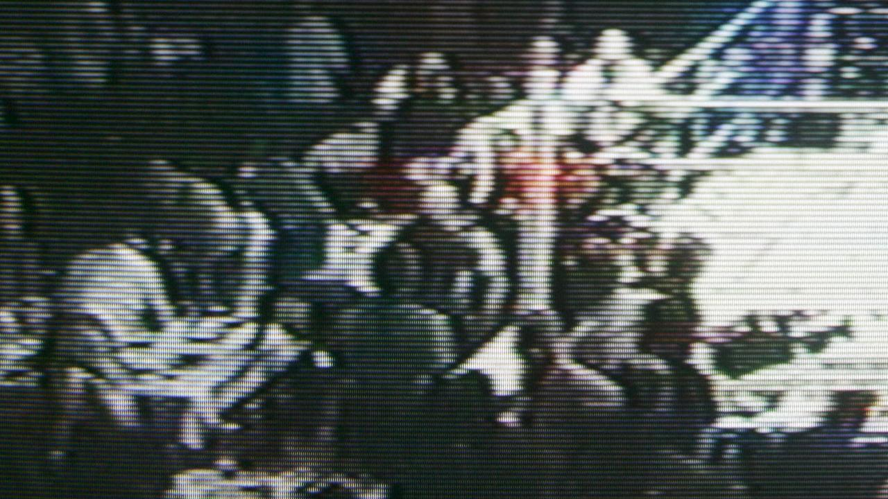 Bikie brawl at Carrara in 2006. Picture: Nine News.