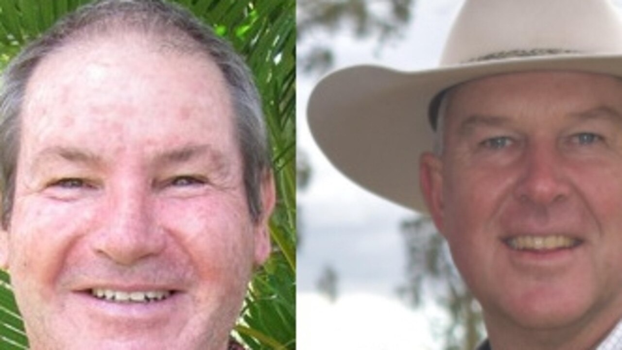 ELECTION DAY: Gympie ALP candidate Geoff Williams and LNP candidate Tony Perrett.