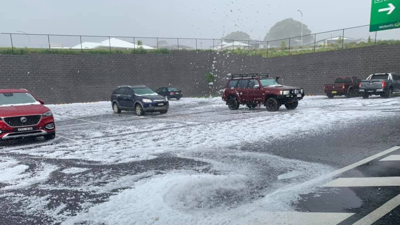 Debby Milgate took pics of the hail at Lennox Head.