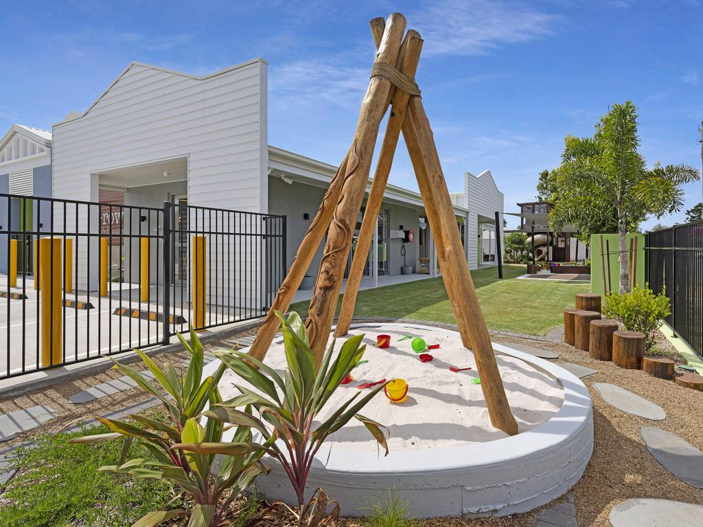 Already proving to be a popular space for children, the tipi sandpit is just one of the innovative concepts that aims to connect children with nature.