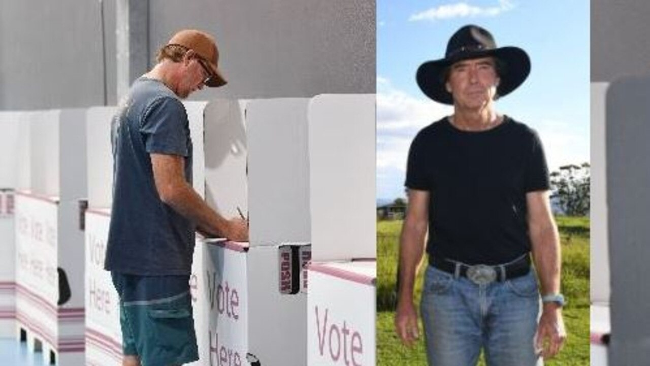 (Left) record numbers of voters have already voted in the Queensland state election 2020, and (right) Independent candidate Tim Jerome.