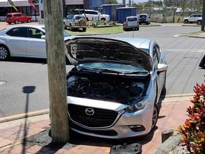 Car with alleged stolen plates crashes after police pursuit