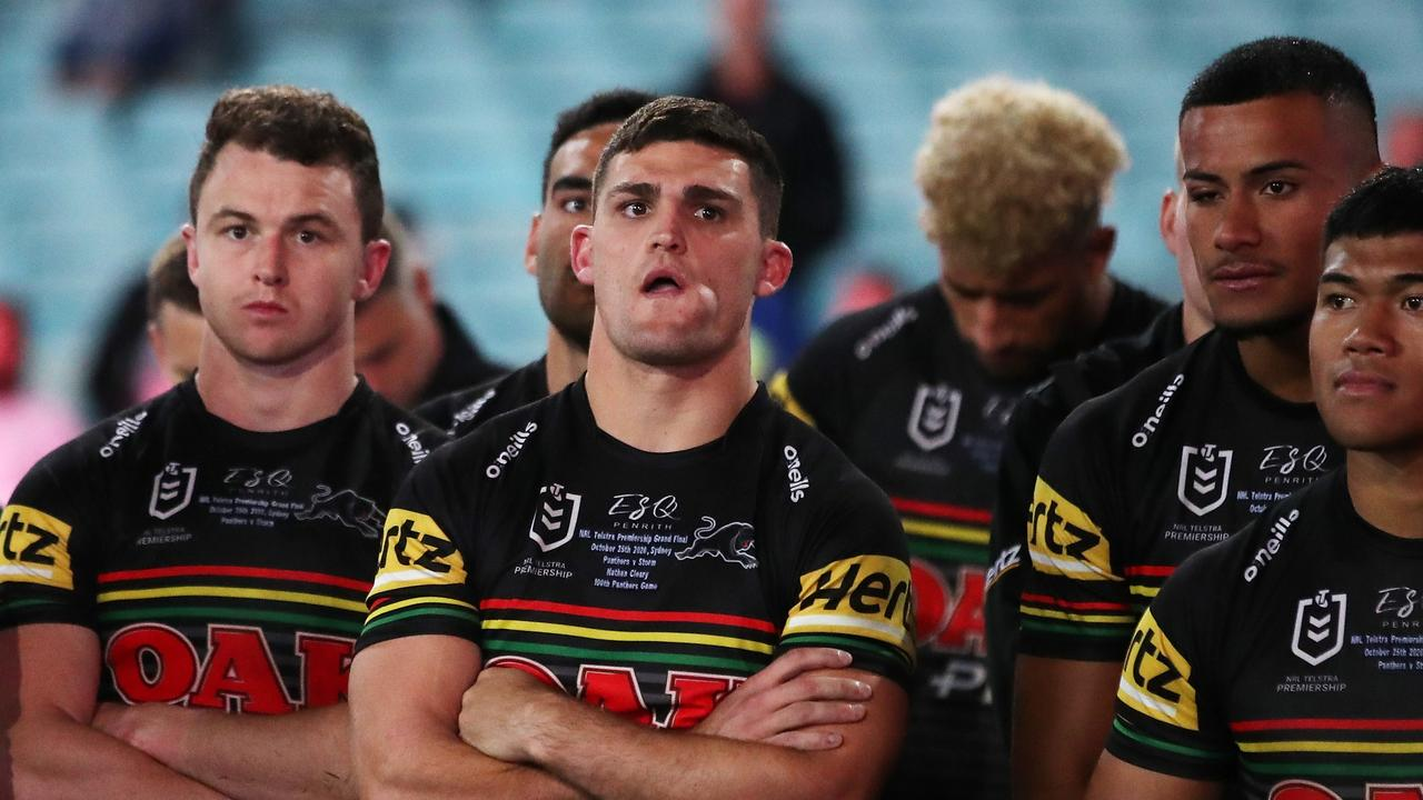 It was not a great night for the slub on the field either, with the Panthers losing to the Storm. Picture: Cameron Spencer/Getty Images