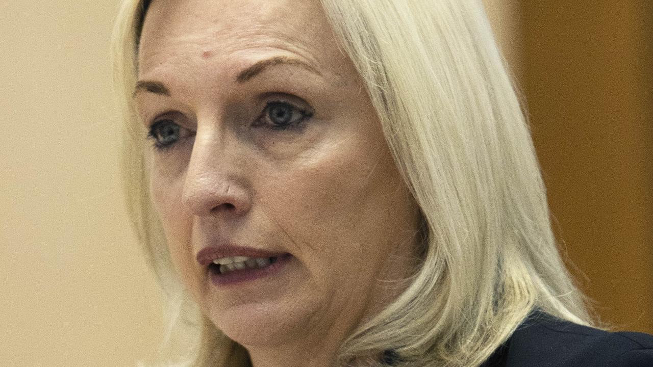Australia Post chief executive Christine Holgate during Senate estimates in Canberra. Picture: NCA NewsWire / Gary Ramage