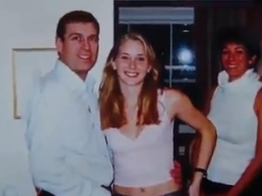 A young Virginia Giuffre – pictured here with Prince Andrew – is now considered one of the most prominent and outspoken Epstein survivors. Picture: Screengrab/Channel 9/60 Minutes