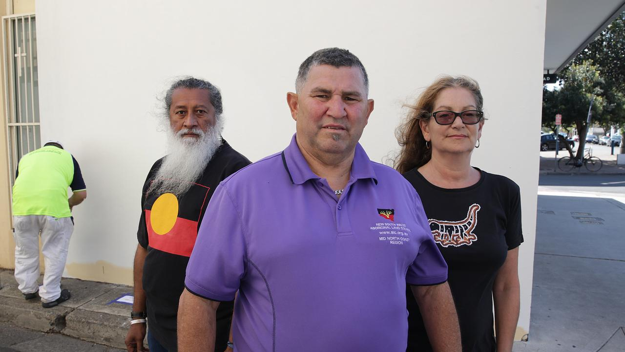 "NSWALC Mid North Coast councillor Peter Smith (centre) seen here with Dominic Wy Kanak and Etienne Cohen says one of his goals is ""support our people to achieve economic independence through access to employment and training in growth industries""."