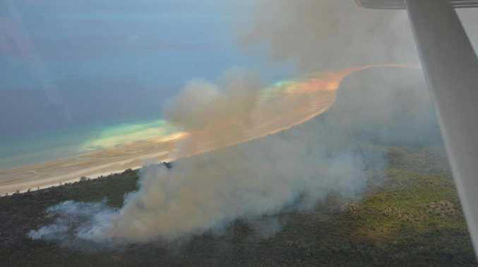 Aerial photos reveal staggering spread of illegal campfire