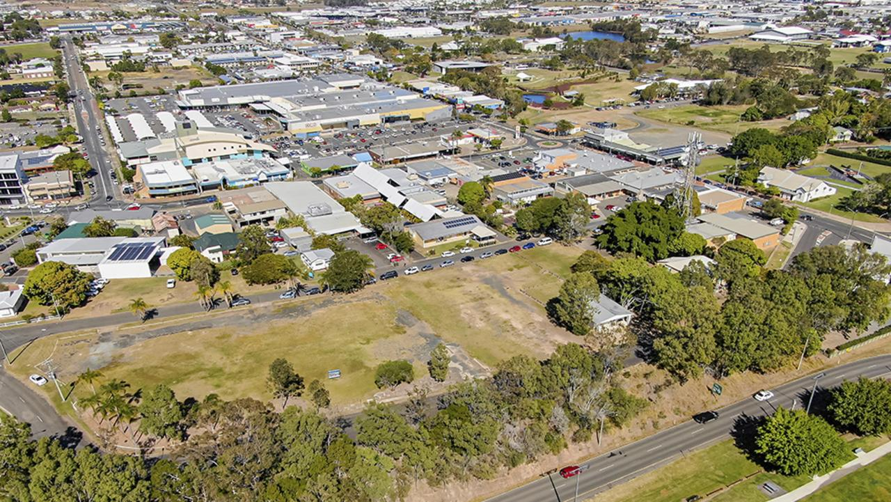 The second preference site for the Fraser Coast Regional Council's new administration, library and community hub at Hillyard St. Photo: Contributed/ File