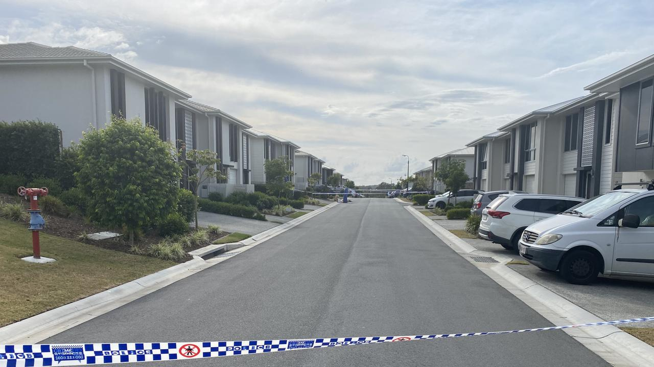 Police at Cox Road in Pimpama after the execution-style killing of Shane Bowden. Picture: Jacob Miley.